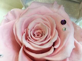 【2月誕生石&ピンク薔薇】ジュエリーBOX