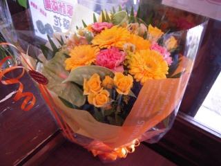 ブーケタイプ☆おまかせ花束イエローオレンジ系