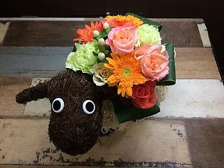 かわいい羊のアレンジ
