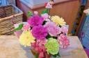 ★母の日 ThankYouピック付き★ピンク系盛花
