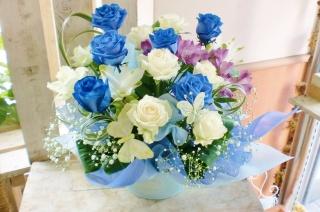 ★青バラ 花言葉 神の祝福★ゴージャス バタフライ