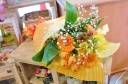 ★オレンジ 黄色系★お花明るくおませ花束