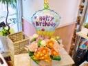 ★バルーンフラワー★ハッピーバースデーカップケーキ