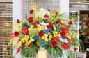 ★青バラ 花言葉 神の祝福★花おまかせスタンド花