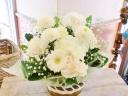 ★ピンポンマム 白仕立て★可愛い アレンジ花