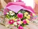 ★ピンク系 バラ★バラ色々おまかせ花束