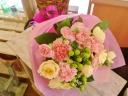 ★母の日 カーネーション入り★ピンク系ブーケ風花束