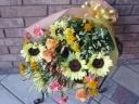 ひまわりたっぷり!夏色の花束