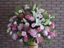 お祝い用おまかせスタンド花(ピンク濃淡)