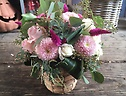 natural pink  arrangement