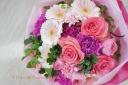 ピンクグラデーション花束