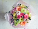 パステル&ミックスカラーの可愛い花束♪