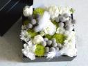 母の日 BOXアレンジメント(ホワイト・グリーン)