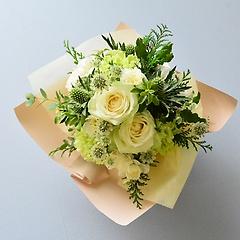 ラッピングのまま飾れる花束【ホワイト】