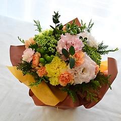 ラッピングのまま飾れる花束【パステル】