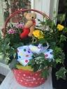 ●ドットバスケが可愛い♪母の日寄せ鉢●