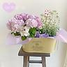 ふわふわ紫陽花&フランネルフラワー