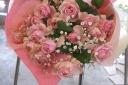 xxバラとカスミ草の花束xx