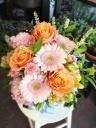 オレンジ色のバラ*アレンジメント