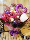 花束「パープルピンクで大人っぽく」