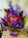 花束「ブルー×パープル」