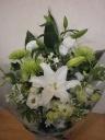 ホワイト&グリーンお供え花
