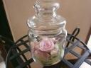 ハートフルなガラスの小瓶