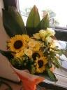 ニッコ、リヒマワリの花束