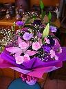 ムーンダスト&ユリの花束