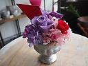 紫バラのプリザ【ケース入り】