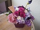 プリザと造花のアレンジメント