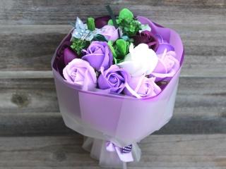 特別価格シャボンフラワー紫~蝶々が輝く~