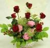 赤バラのアレンジメント