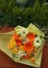 黄バラとオレンジのガーベラの花束