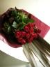 赤いバラのスタイリッシュブーケ