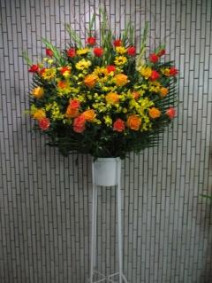 1段スタンド イエロー・オレンジ系