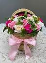 シャボンフラワー「籠いっぱいの感謝」ピンク