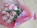 バラ・カスミ草の花束