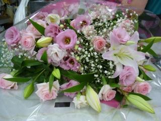 ピンクいっぱい花束★