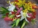 ユリとオンシジュームの花束☆