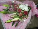 ユリとバラと胡蝶蘭の花束★