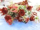 【花束】バラとグロリオサ~情熱の赤~