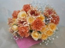 【花束】やさしいオレンジ系