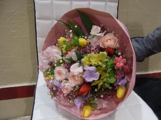 *春のお花がいっぱい♪【春のまんまるブーケ】*