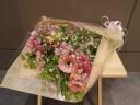 とってもかわいいです♪ピンクガーベラの花束♪