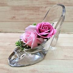 本物のガラスの靴です♪【レディローズ・P】