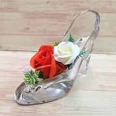本物のガラスの靴です♪【レディローズ・O】