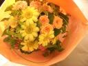 フラワ-ショップ光*イエロ-*オレンジ系花束
