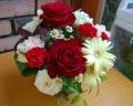 赤いバラのプチアレンジメント