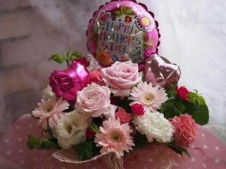 ★母の日【バルーン付】ピンクアレンジ★